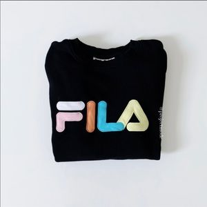 Fila French Terry Crewneck Pullover Black Sweater
